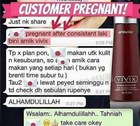 Berjaya hamil dengan Vivix