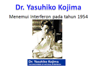 Dr. Yasuhiko Kojima yang menemui Nutriferon