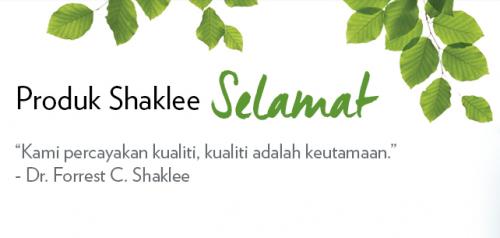 Falsafah Produk Shaklee : Sentiasa Selamat