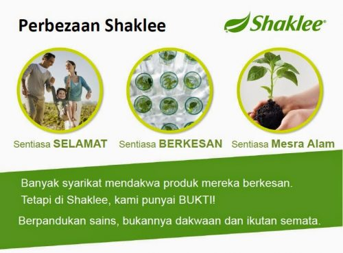 Falsafah Produk Shaklee : Sentiasa Selamat, Terbukti Berkesan dan Mesra Alam.