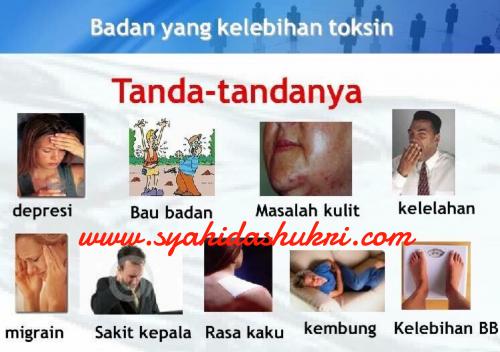 Simptom-simptom yang menunjukkan badan kita bertoksin