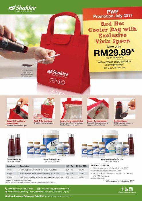Promosi Shaklee Julai - Cooler Bag dengan pembelian Double Vivix