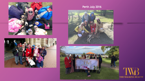 Team 'The Walking Beauty' di Perth!
