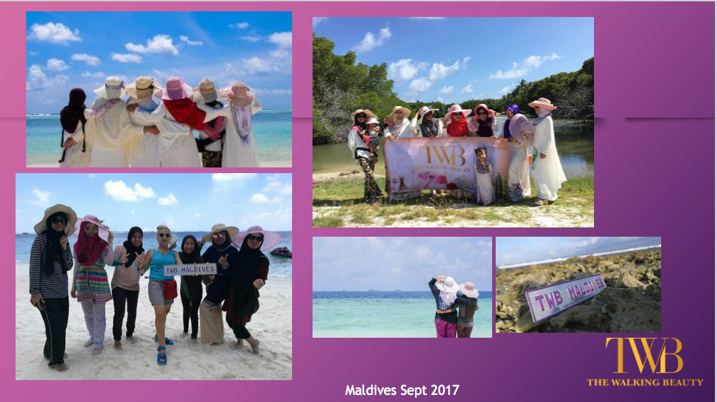 Team 'The Walking Beauty' di Maldives!