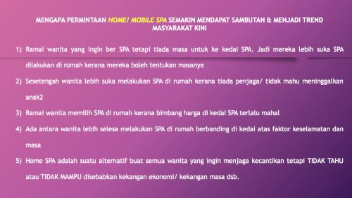 Realiti Permintaan Home Spa dan Mobile Spa Masa Kini