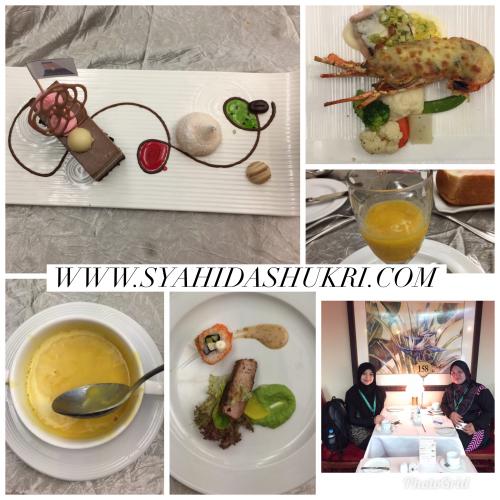 Makanan high-class yang dihidangkan atas atas cruise ship