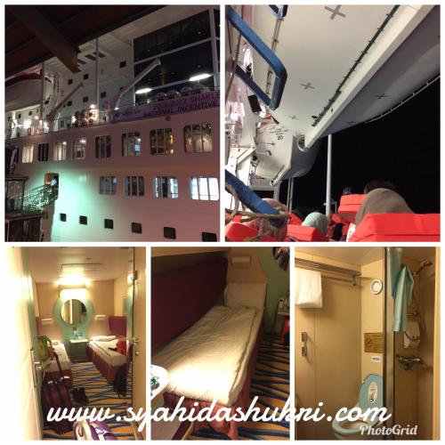 Rupa luaran dan dalaman kapal cruise