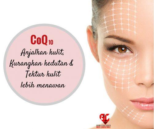 Kulit wajah cantik berseri dengan khasiat CoQ10