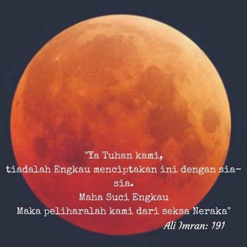 Kejadian gerhana bulan membuktikan kehebatan dan kekuasaan Allah