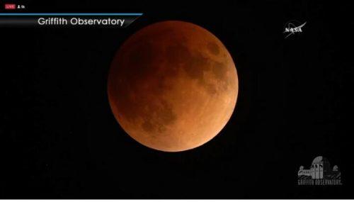 Kejadian gerhana bulan pada 31 Januari 2018
