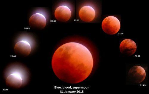 Gerhana Bulan : Super Blue Blood Moon