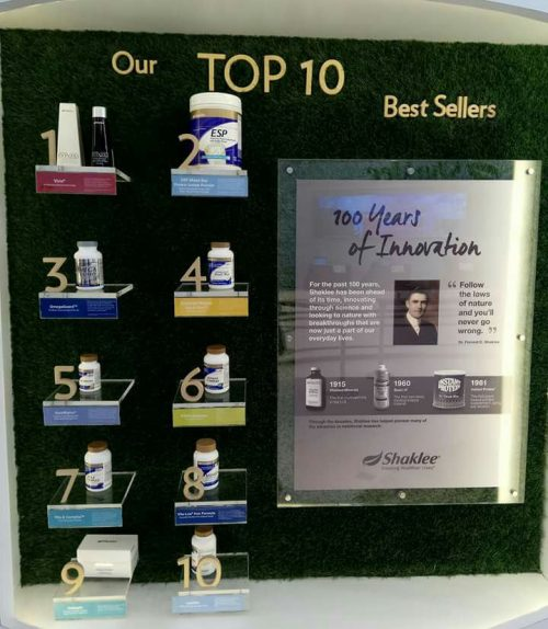 Top 10 produk Shaklee
