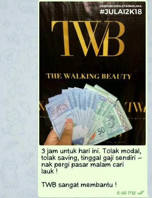 Pendapatan instant cash dalam bisnes servis Mobile Spa di bawah Kursus Spa TWB