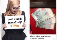 Dapat duit kipas lagi. Banyaknya not RM50 tu. Satu pagi je ni.