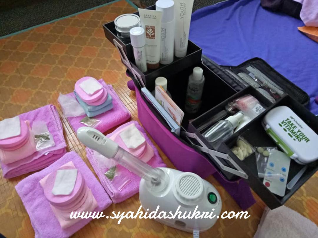Mobile Spa Ke Rumah dan Pejabat - peralatan yang dibawa untuk facial.