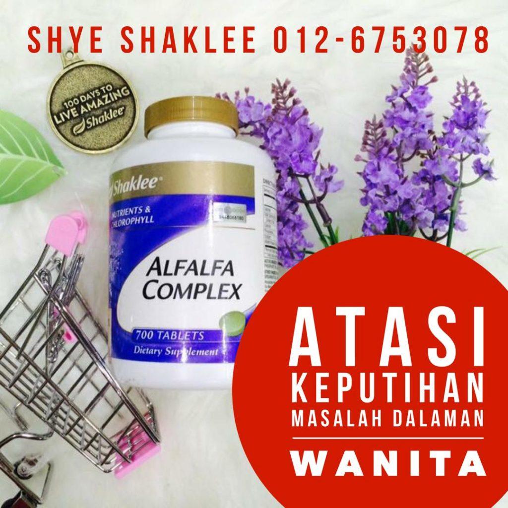 Masalah Keputihan - atasi dengan Alfalfa Complex Shaklee