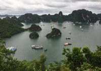 View from the top, Ti Top Island, Halong Bay, Vietnam.
