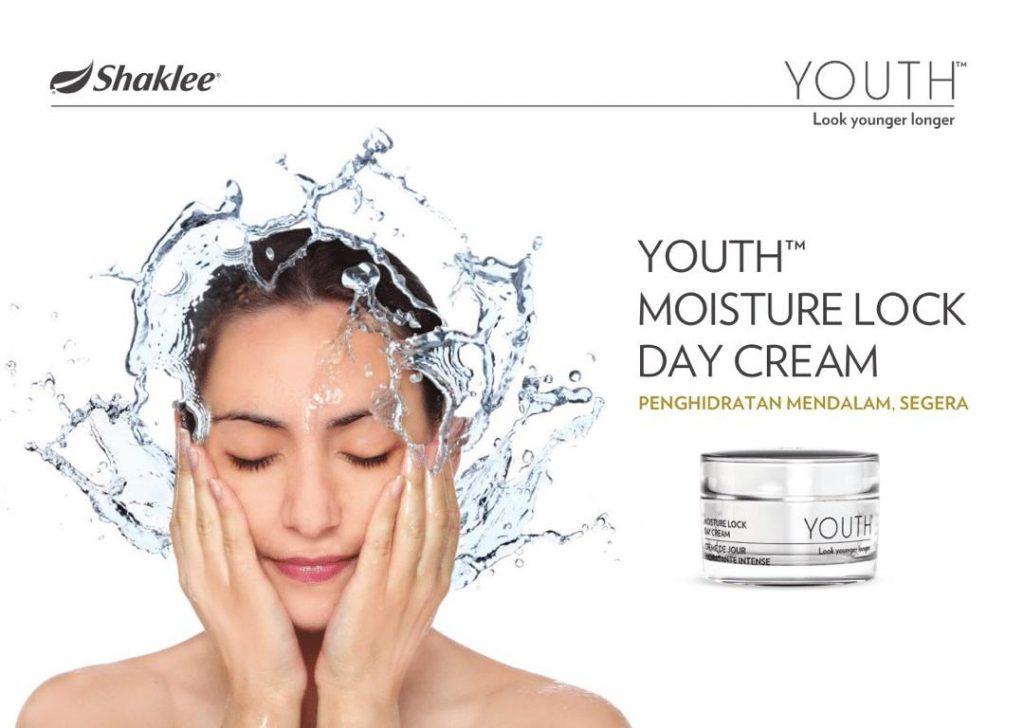 Youth Moisture Lock Day Cream - Terbaru daripada Shaklee skincare Youth