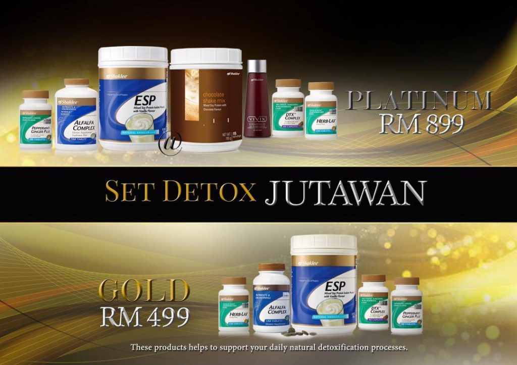 Cara nak join program Jom Detox Jutawan. Pilih set detoks anda.