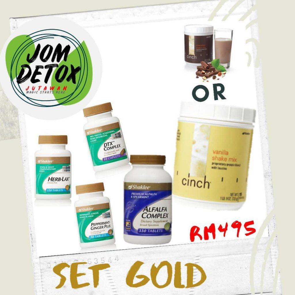 Pakej Pilihan Program Jom Detox Jutawan : Set Gold