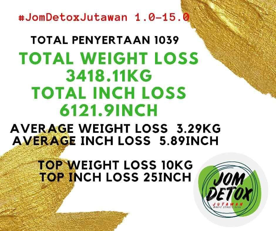 Jom Detox Jutawan proven result. Jom jana side income dengan program Jom Detox!