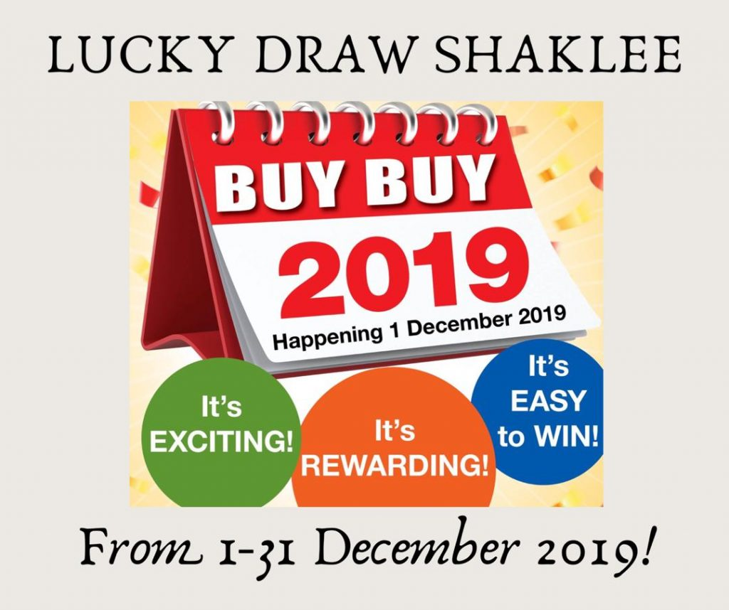 Lucky Draw Shaklee sepanjang Disember 2019.