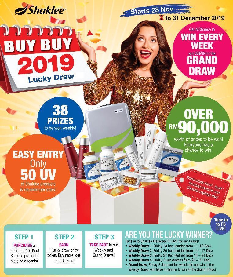 Pelbagai hadiah menarik bernilai sehingga RM90,000 untuk dimenangi dalam Lucky Draw.