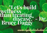 Kesihatan boleh dibina dengan ilmu nutrisi yang betul, seterusnya mengelakkan penyakit.