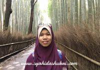 Di Arashiyama Bamboo Forest, Kyoto.